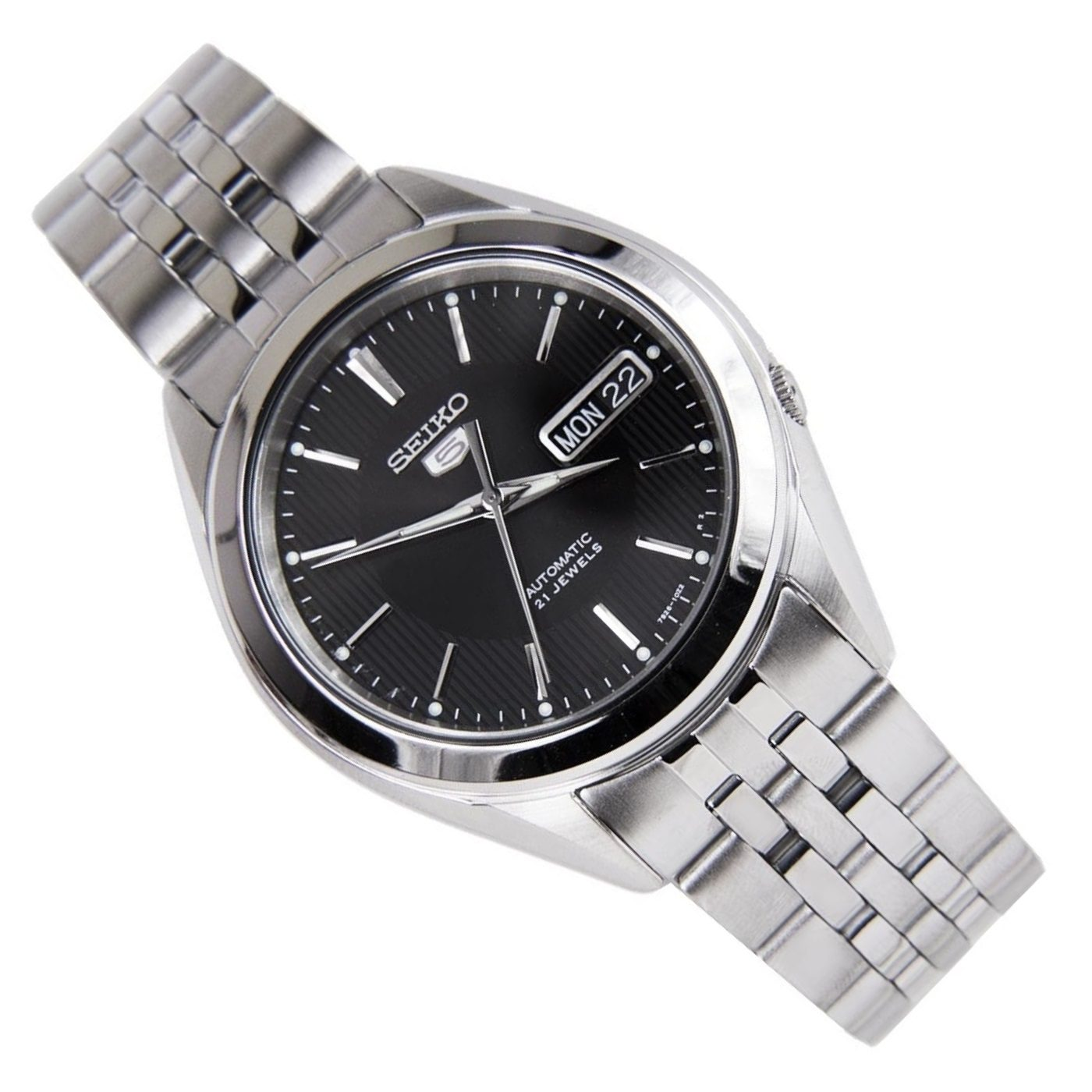 Seiko 5 Snkl23 21 Jewels Stainless Steel Casual Mens Automatic Watch