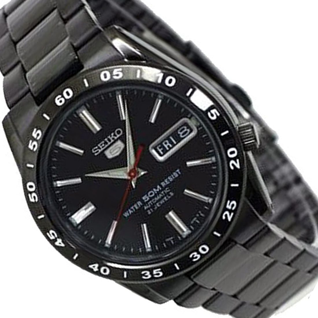 7418d4f06 SEIKO 5 SNKE03 BLACK DIAL SPORT AUTOMATIC MENS WATCH DRESS STAINLESS STEEL