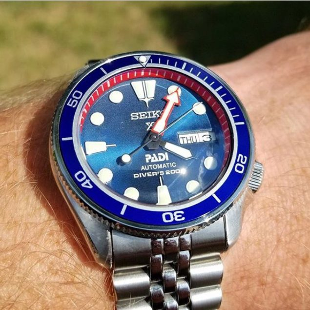 Seiko Mod 316L COIN EDGE DIVERS BEZEL SKX Stainless Steel 316L surgical  grade HQ