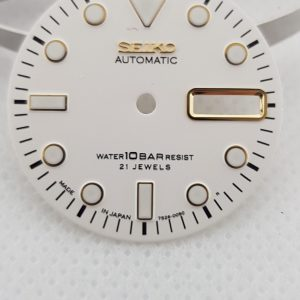 Seiko White Dial Gold Markers 7S26 4R 6R Mods